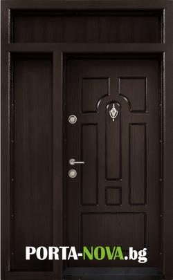 Ednokrila vhodna vrata T 108 tsvyat Tamen oreh 1