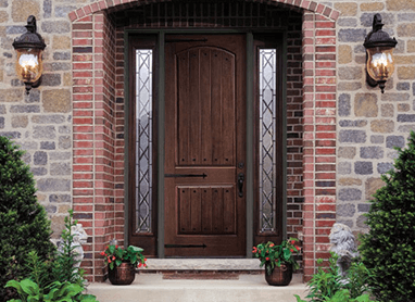 Входна врата с фибростъкло
