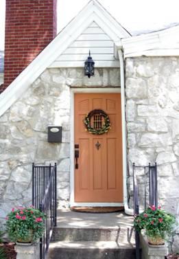 Врата цвят праскова
